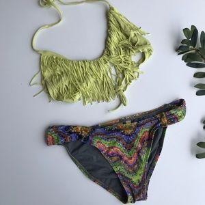 l*space Swim - L*Space | neon fringe bikini set M